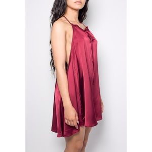 Dresses & Skirts - Silk Backless Dress (Red)